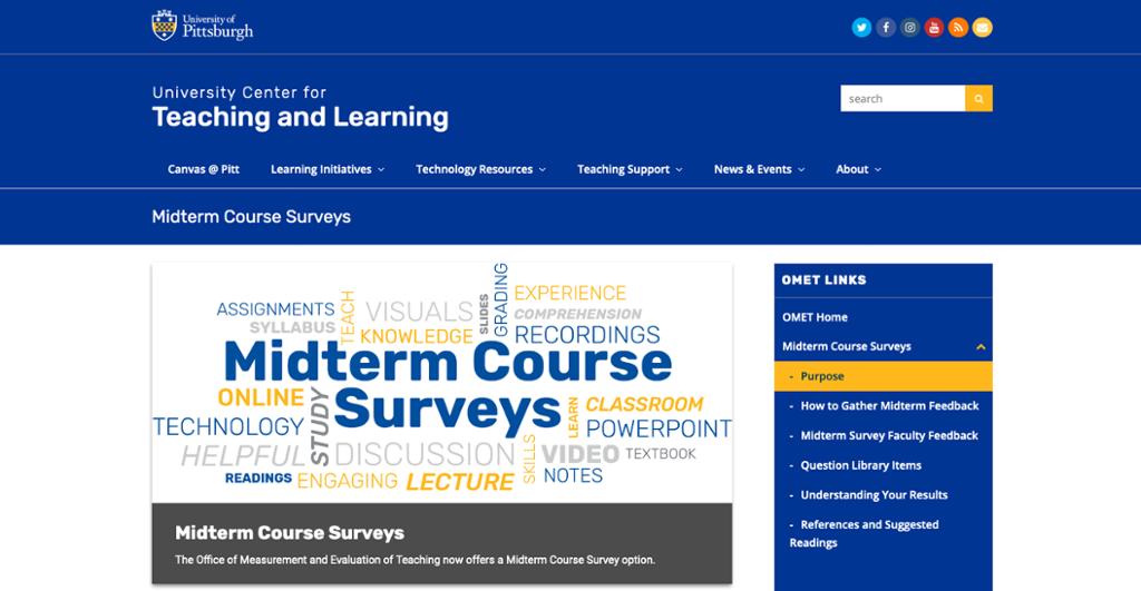 OMET Midterm Course Survey option
