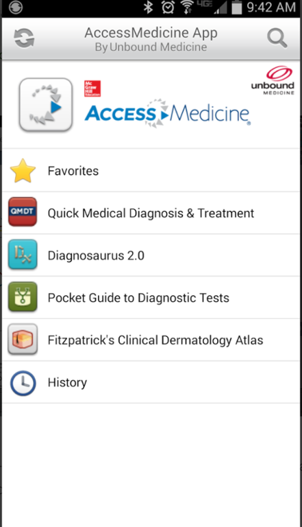 AccessMedicine App Screenshot