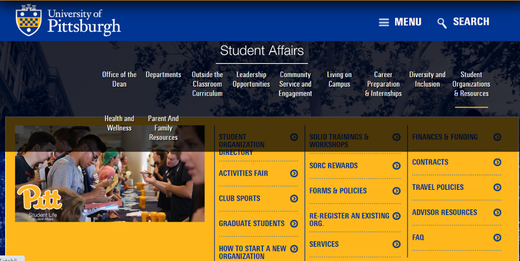 Image of Student Organizations Information
