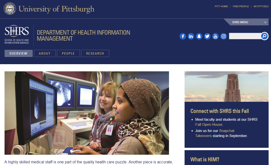 Accurate data enables doctors to make critical decisions about patient care. Study Health Information Management at the University of Pittsburgh.