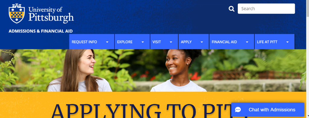 Image of information on Applying to Pitt