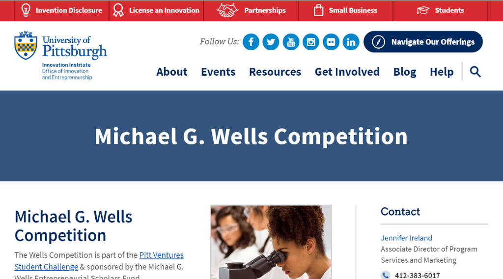 Image of Information on the Michael Wells Competition for the Entrepreneur Scholars Award