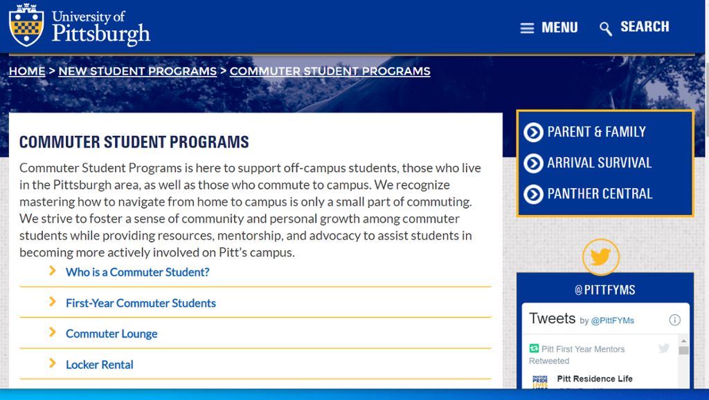 Image of the Commuter Student Programs