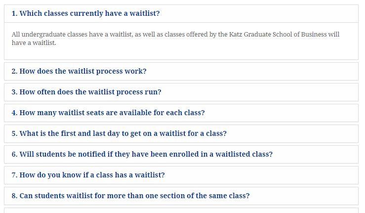 Course Waitlist FAQ